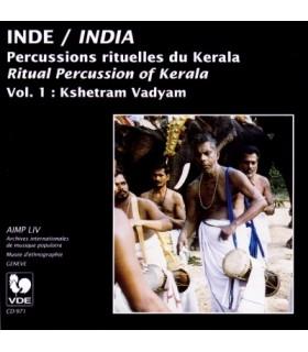 Percussions Rituelles du Kerala. Vol. 1