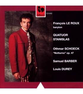 Œuvres pour Baryton et Quatuor a Cordes