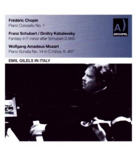 GILELS in Italy  Chopin-Schubert-Kabalevsky