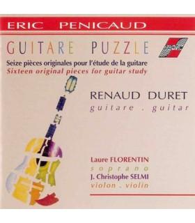 Guitare puzzle, 16 pieces originales pour l'etude de la guitare